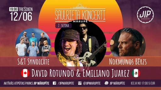 Saulrieta Koncerti 12. jūnijs,- David Rotundo, Emiliano Juarez